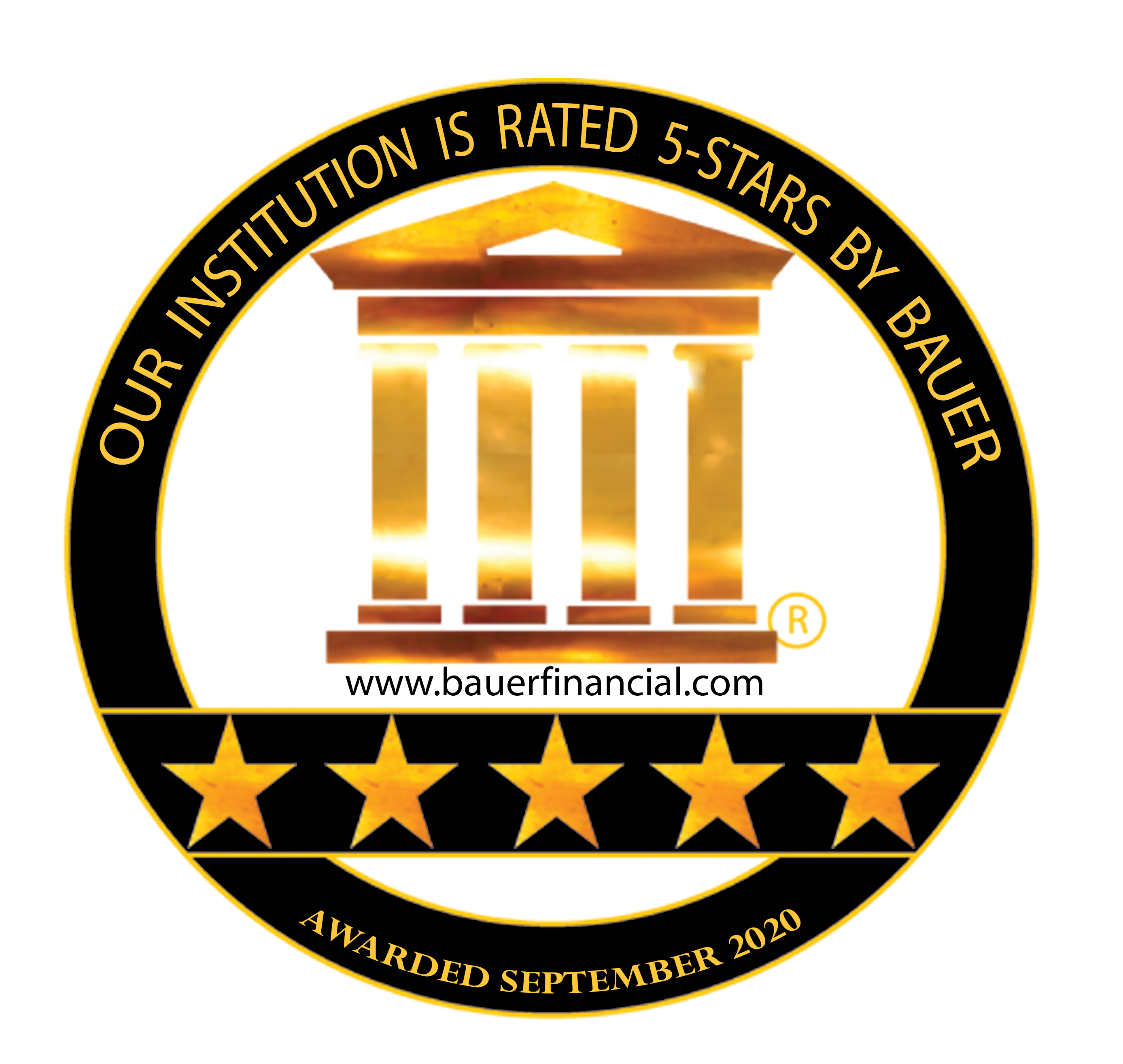 Bauer Financial's 5 Star Rating Badge